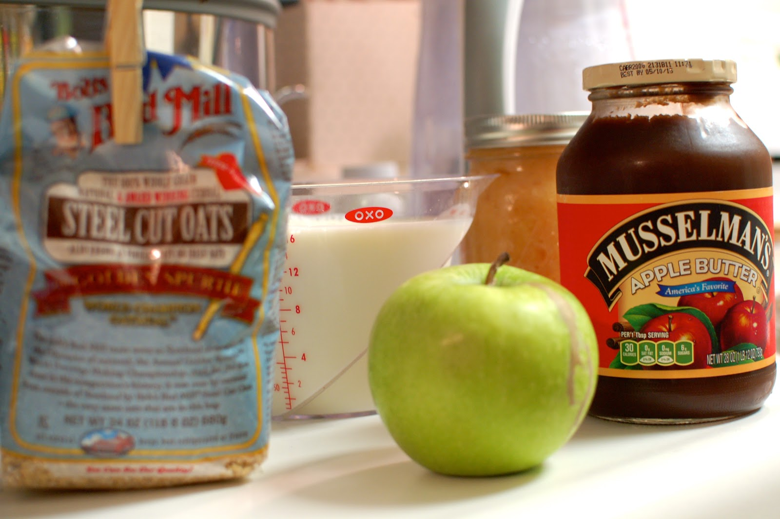 slow cooker overnight apple butter oatmeal - lb's good spoon