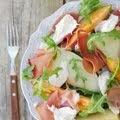 Salada de Melão, Meloa, Presunto e Mozarella