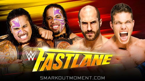 WWE Fastlane 2015 PPV Tag Team Titles Brass Ring Club vs Usos