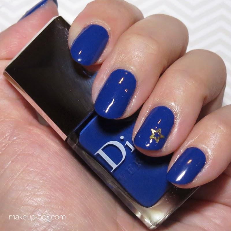 Blue Nail Polish One Finger: The Makeup Box