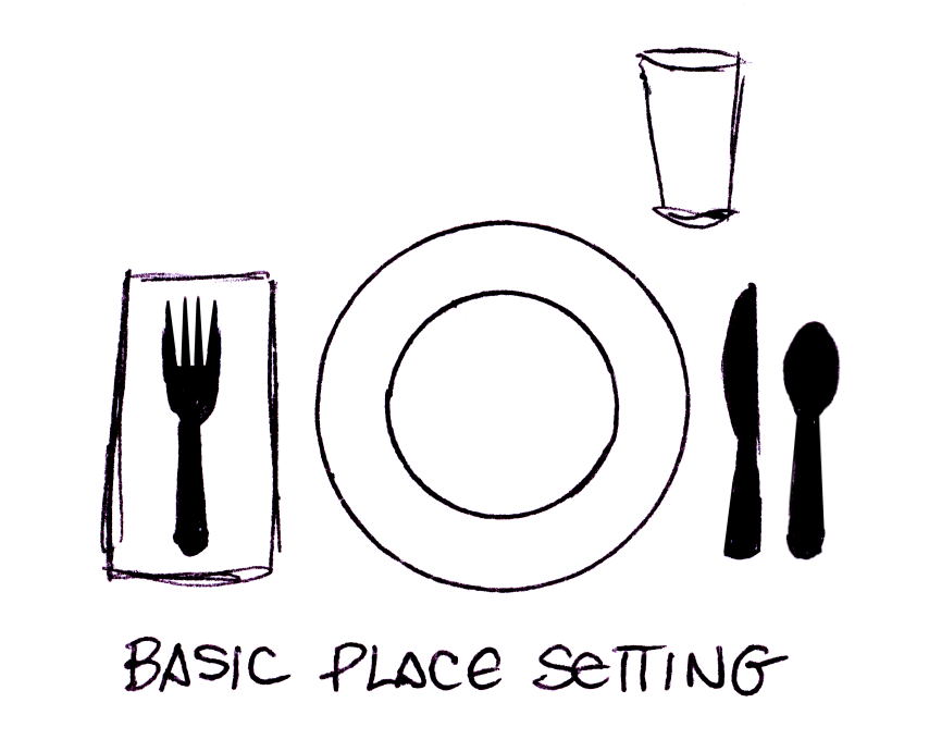 Remedial Adulthood How To Set A Table