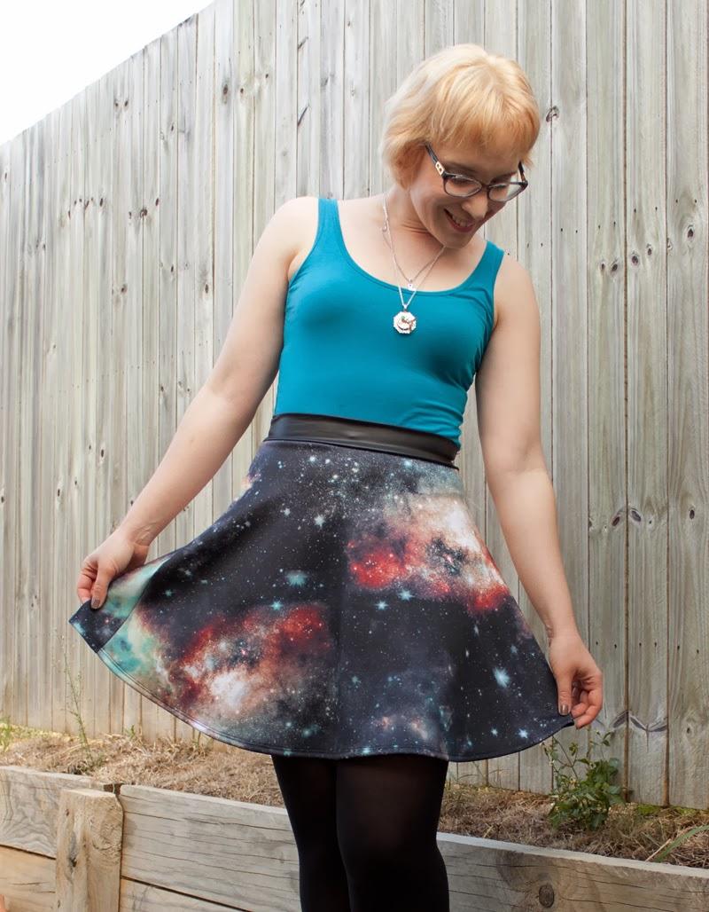 Modcloth supernova twirl skirt