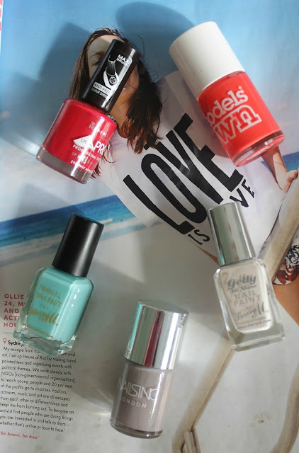 Summer Nail Polishes from Barry M, Nails Inc, Rimmel and Models Own Beauty Blogger Blog
