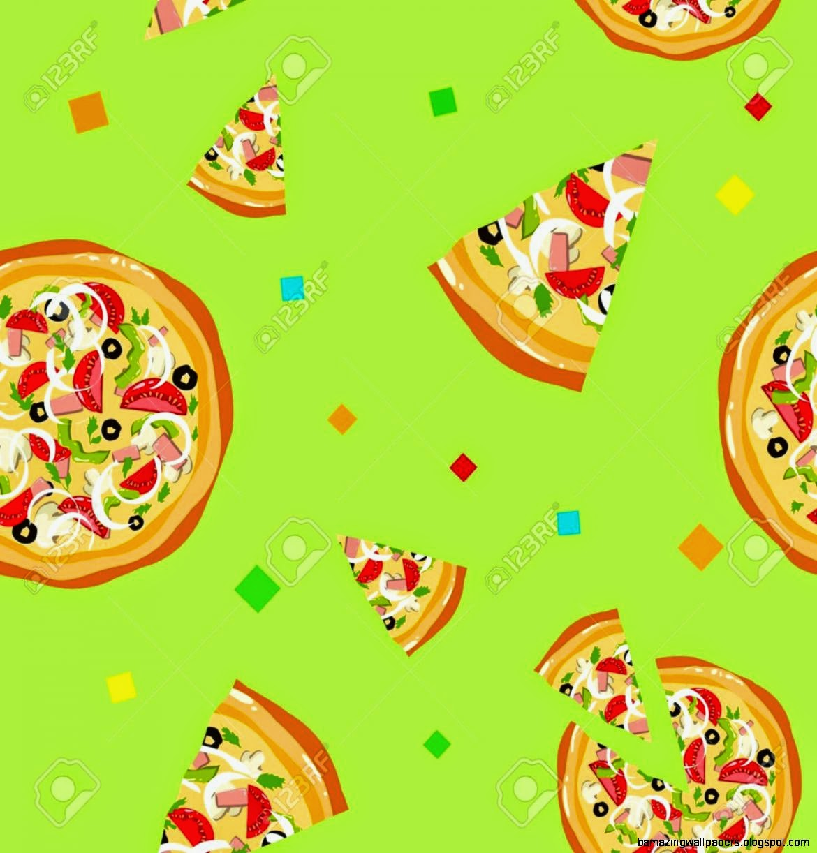 repeating pizza background -#main