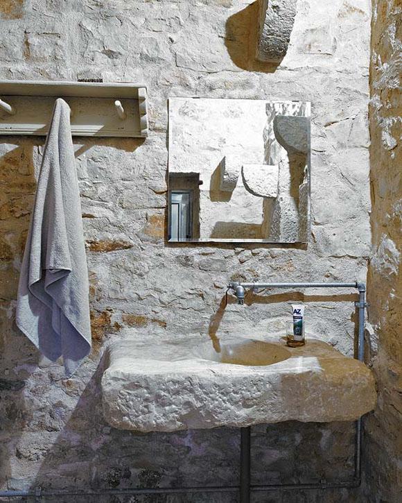 ideas para baos con estilo rstico lavabos originales en piedra y madera