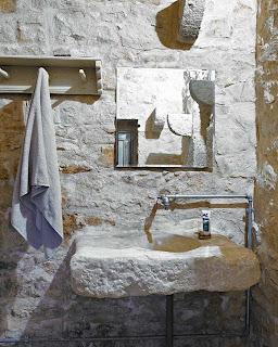 ideas para baos con estilo rstico lavabos originales en piedra y madera - Lavabos Originales