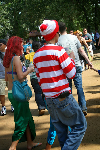 Where's Waldo costume at the Texas Renaissance Festival