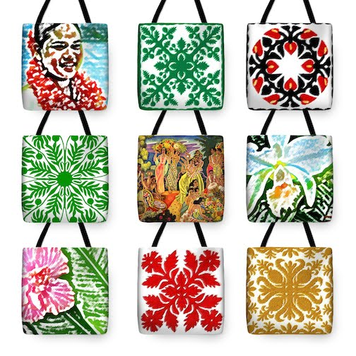 JAMES TEMPLE'S HAWAII TOTE BAGS