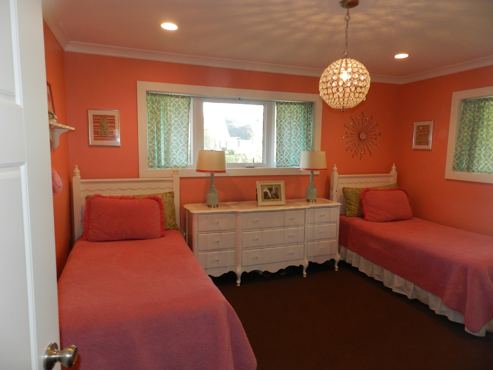 Coral Painted Rooms Julie Peterson Simple Redesign I Just Took My Obsession For