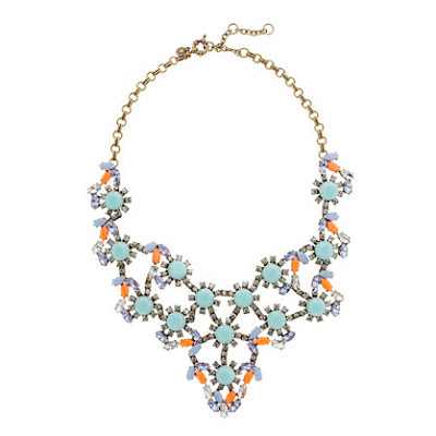 J.Crew pastel and neon statement necklace, J.Crew, statement necklace