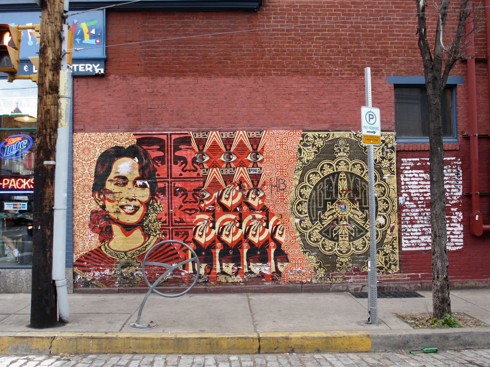 Pittsburgh murals and public art shepard fairey collage for Mural collage