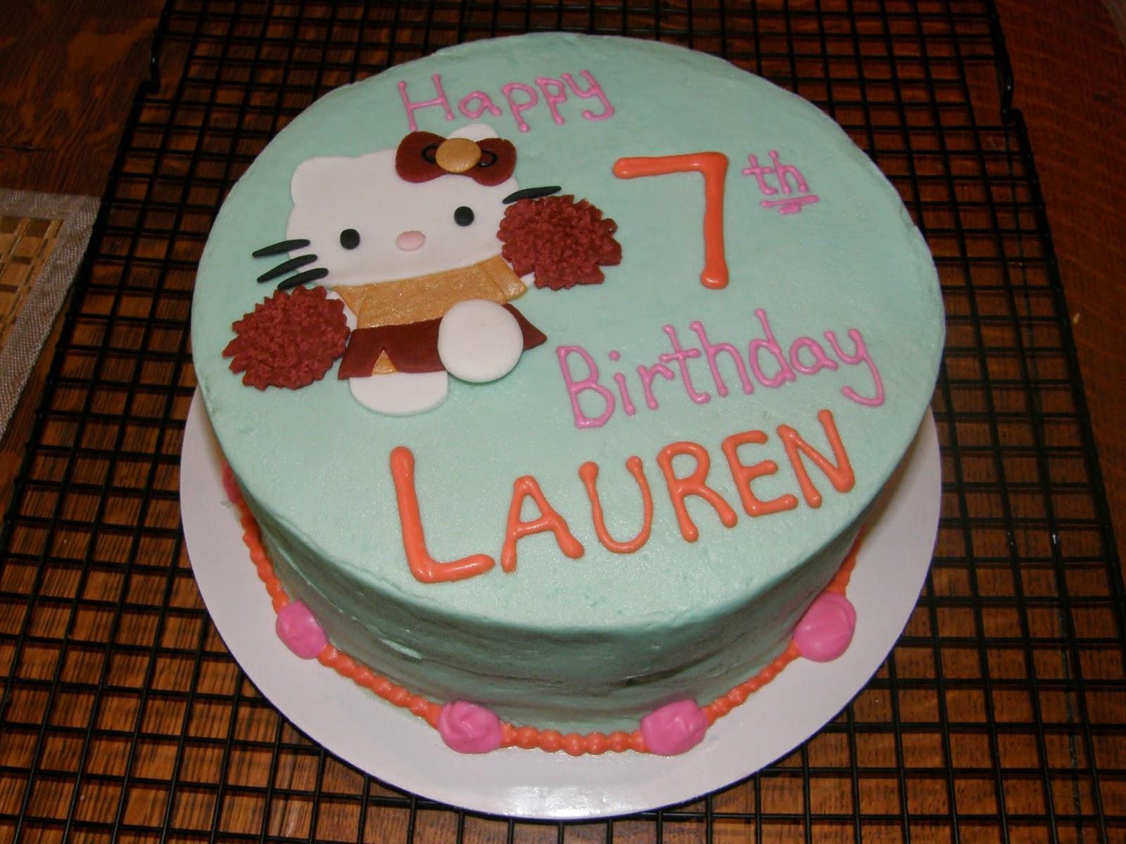 Mrs Lydias Kitchen Hello Kitty Fsu Cheerleader Birthday Cake