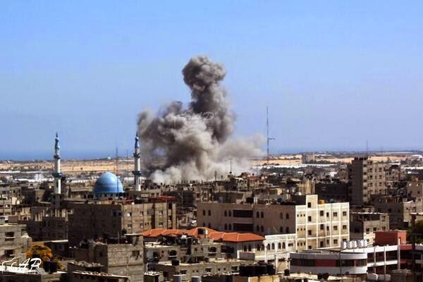 Serangan Israel ke Gaza, Ramadhan 1435 H (AP)
