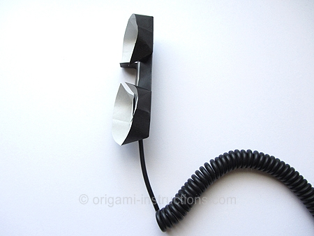 origamiinstructionscom easy origami phone receiver