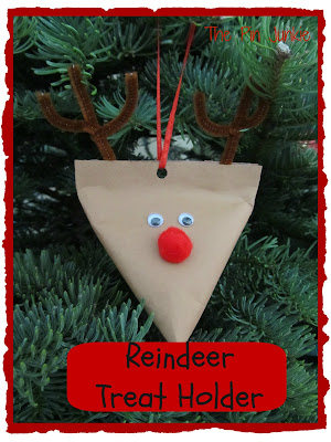 Christmas reindeer treat holder