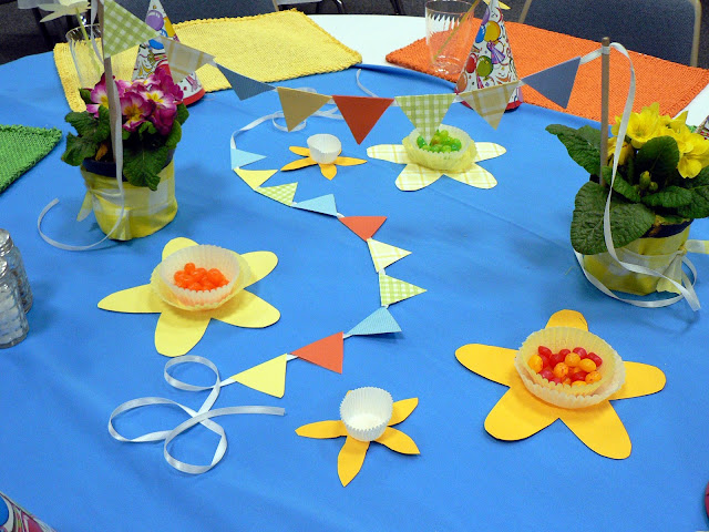 Mini Paper Bunting craft, spring table setting