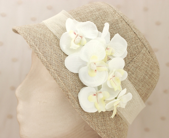 Colección Orquídea - Sombrero beige