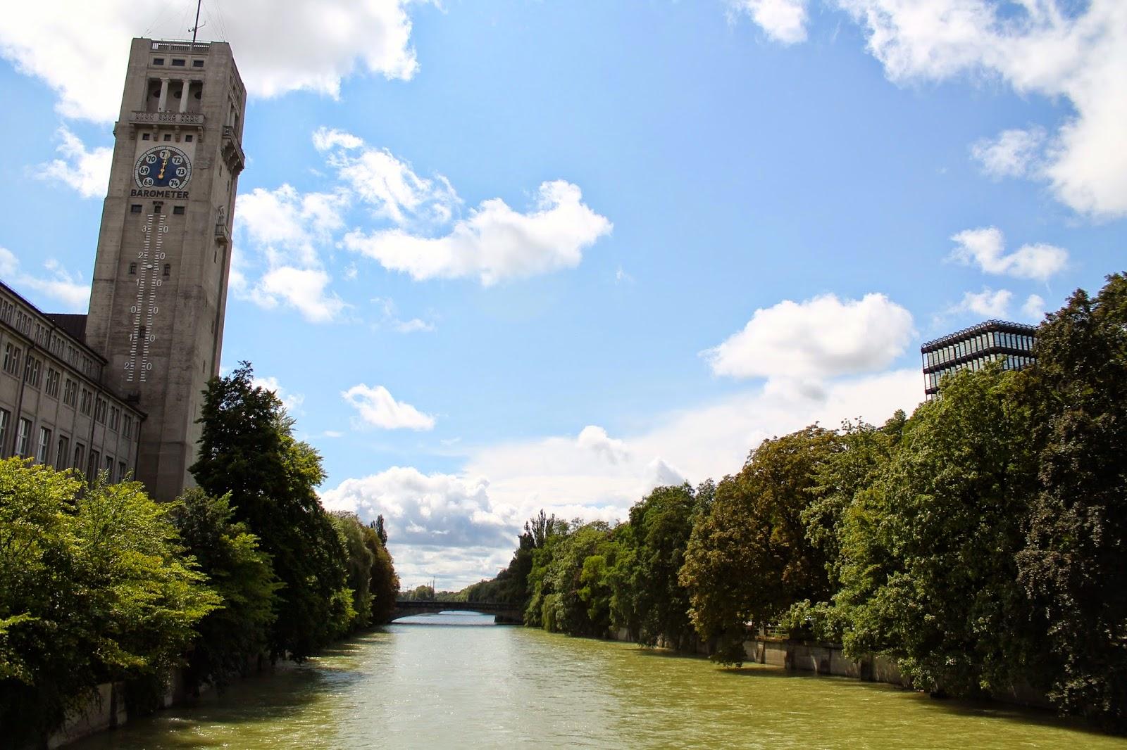 Deutsches Museum y el río Isar. ¡Munich! en Hitzen Mundua