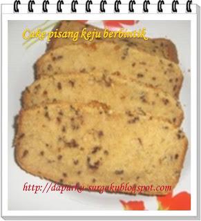 Resep Cake Pisang, Camilan, Bolu Pisang, Olahan Pisang, Cake Pisang Keju Berbintik,