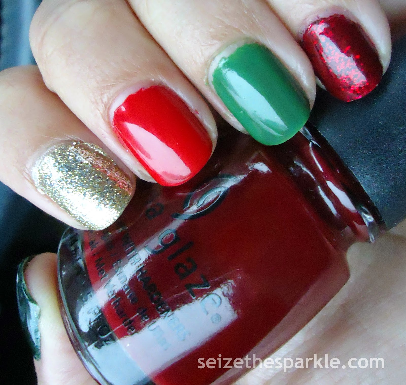 Holiday Skittle Mani