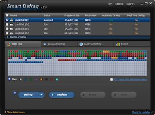 ��� ����� ������� Smart Defrag 2.5 ������ ���� ������ ������� �����