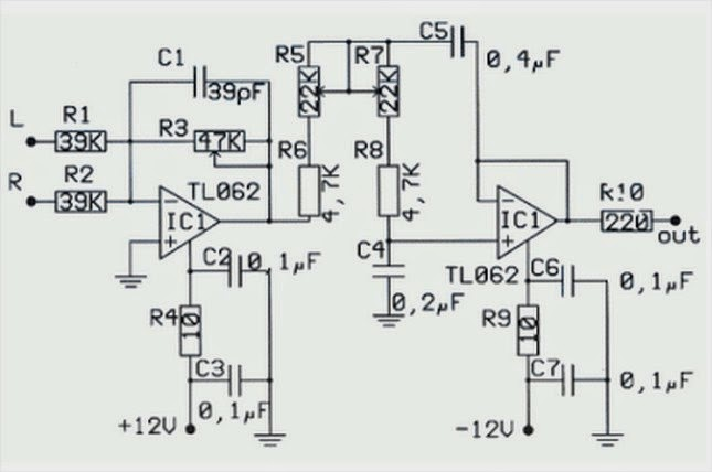 amplifiercircuits com  subwoofer circuit