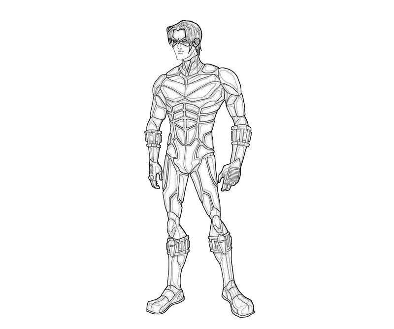 Pin Nightwing Coloring Pages On Pinterest Nightwing Coloring Pages