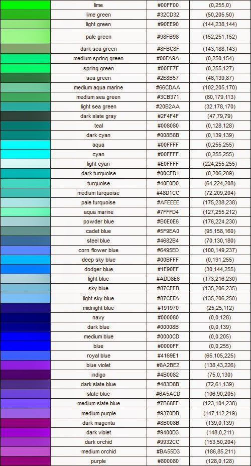 I Found These Pictures Of A Whole Bunch Color Codes Hope They Help You Find Your