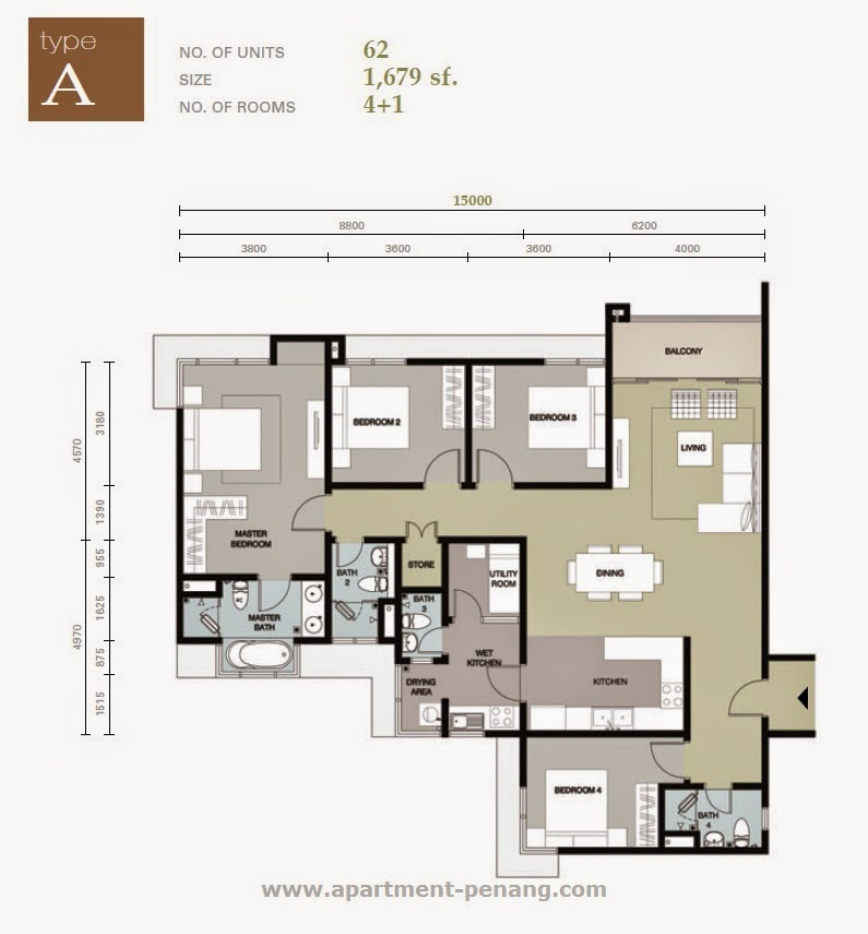 Plans by address the address residence dubai opera tower 1 for Floor plans by address