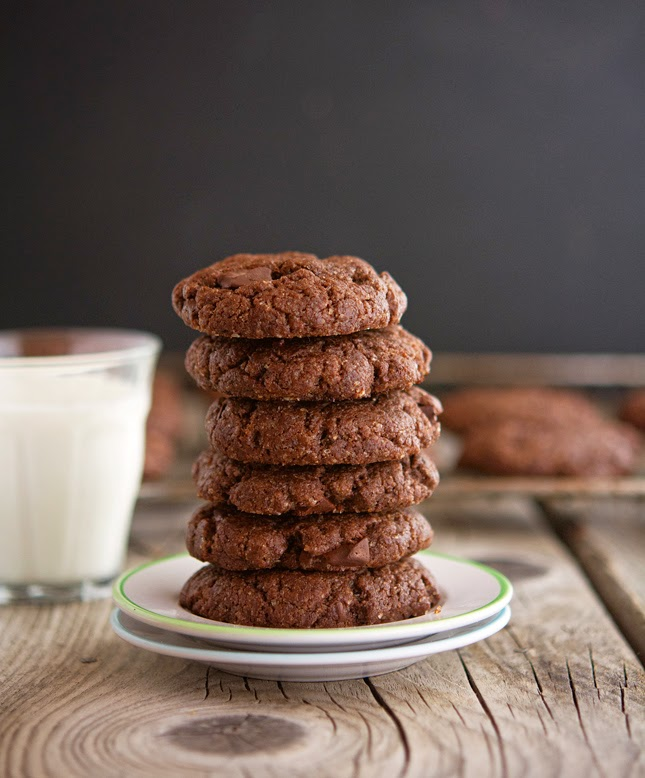 Chocolate Chunk Almond Butter Cookies