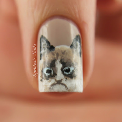 Grumpy Cat Nails