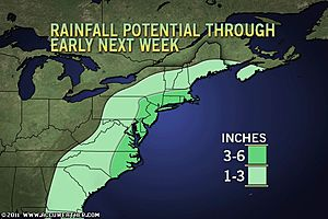 >US East Coast Expecting More Flooding Rains Friday through the weekend