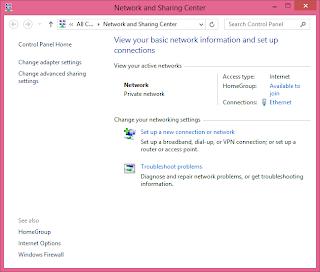 Cara Sharing Internet Windows 8