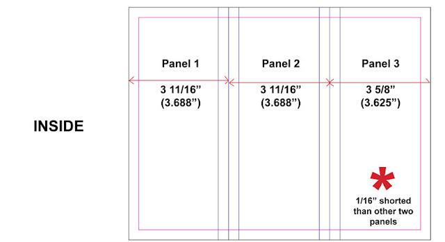 standard trifold brochure size