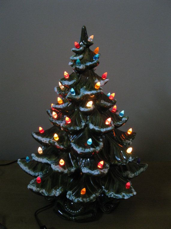Updated Vintage Ceramic Christmas Tree Our Crafty Mom