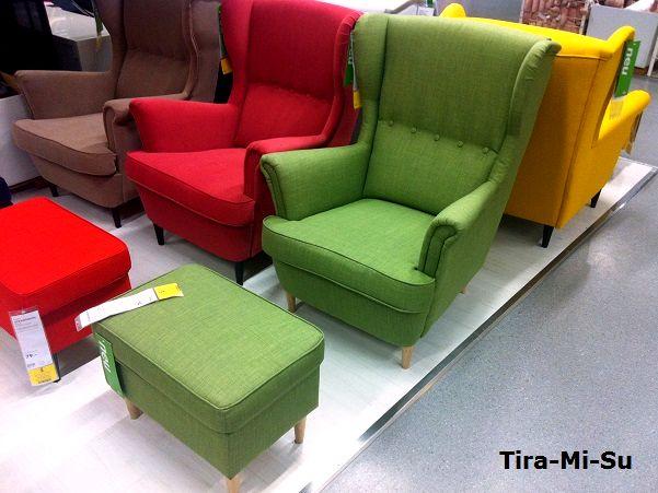 Ohrensessel ikea rot  Ikea Sessel Strandmon Rot – Zuhause Image Idee