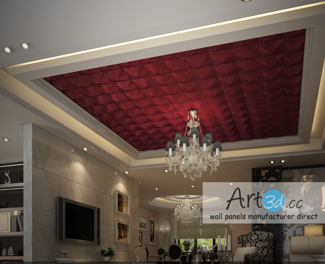 Home leather wall panels modern leather tiles a12011 3d leather - Ceiling Wall Design Ideas With Faux Leather Wall Tiles