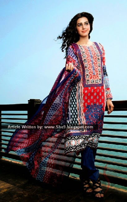 Lawn Collection 2015 by Amna Ismail