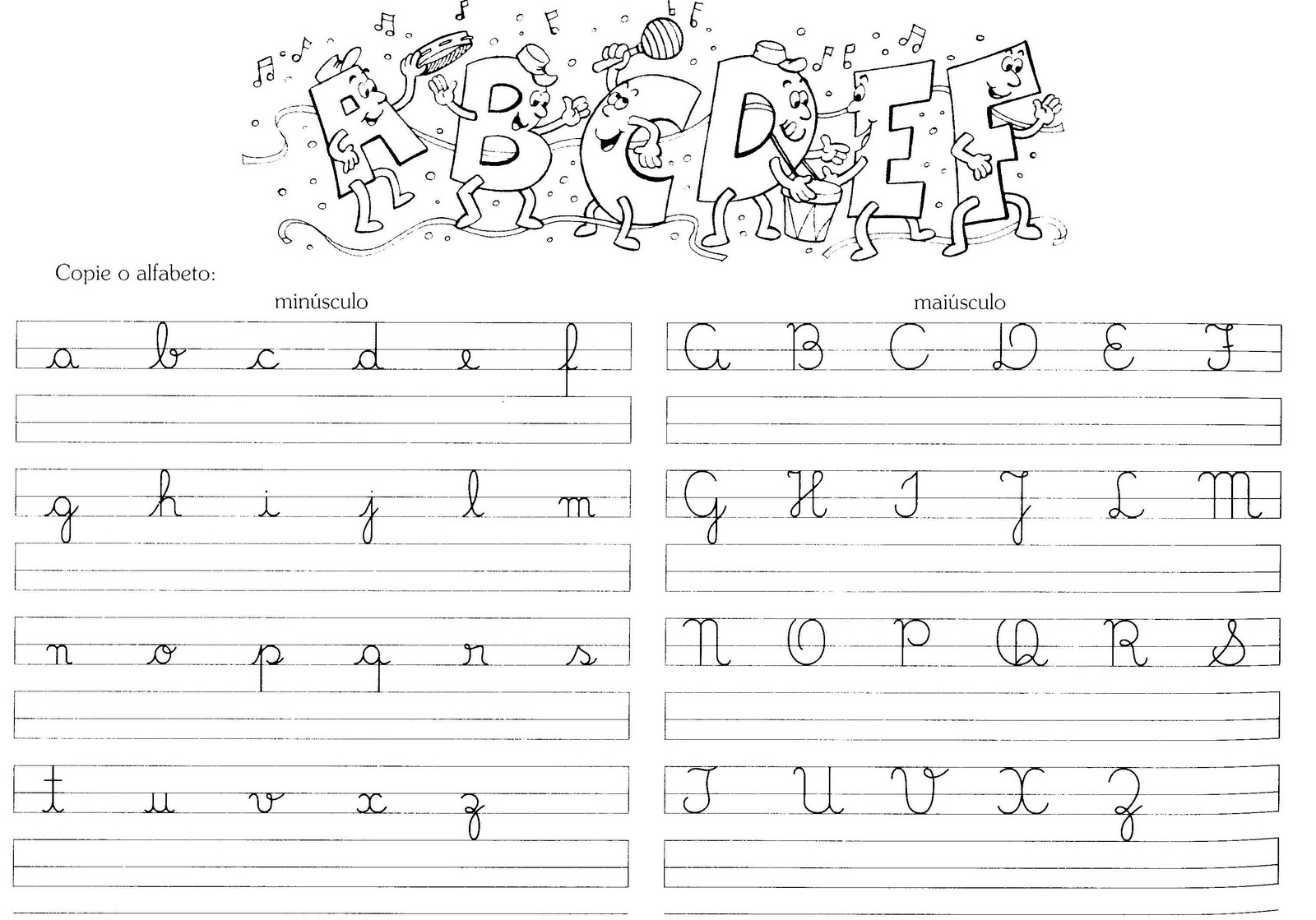 Aprendendo a ensinar caligrafia for L practicas