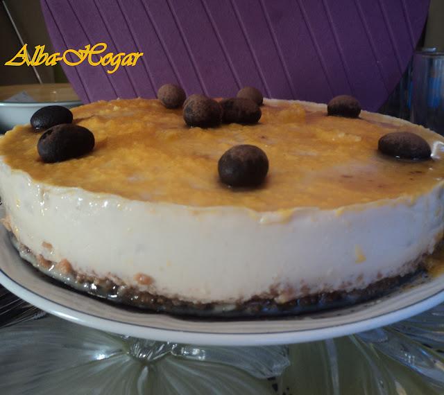 tarta de turrón y yema alba hogar