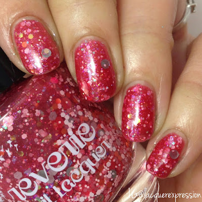 swatch of reverie nail lacquer polish fresa