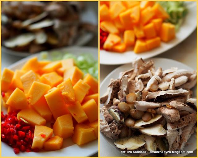 gęsia wątróbka , szybkie danie , obiad , grzyby leśne , czubajki , dynia , kuchnia polska , domowe jedzenie , najlepsze przepisy , najsmaczniejsze dania , smacznie i tanio ,