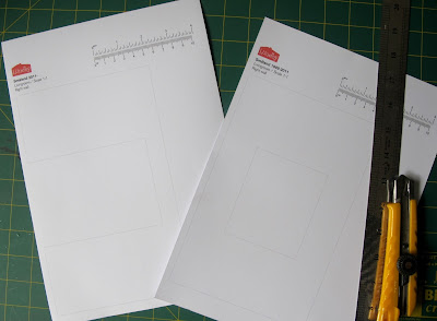 Printed templates for re-wallpapering a Lundby Smaland dolls' house.