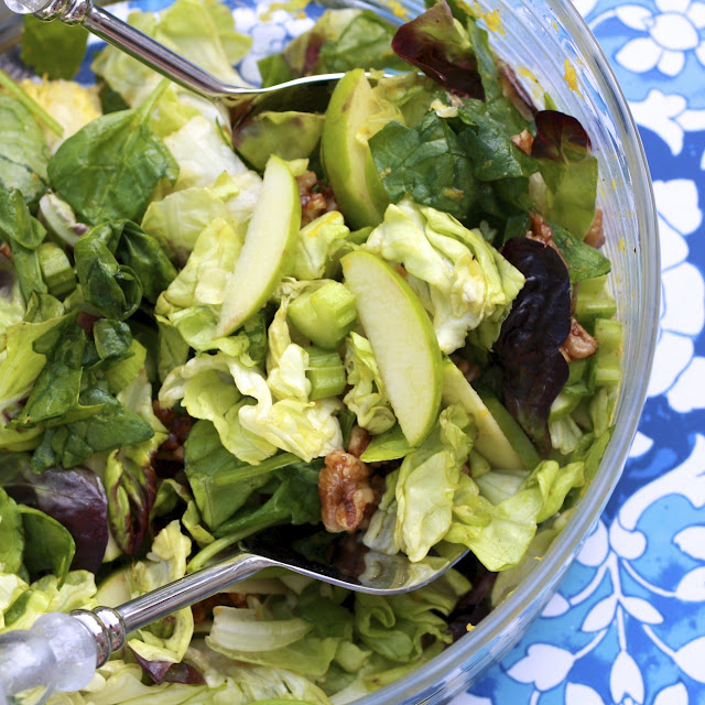 Green Salad with Spiced Walnuts | the Sweets Life