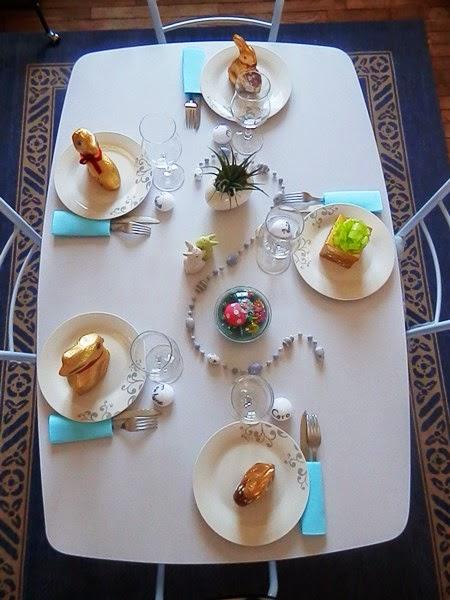 Décoration de table de Pâques