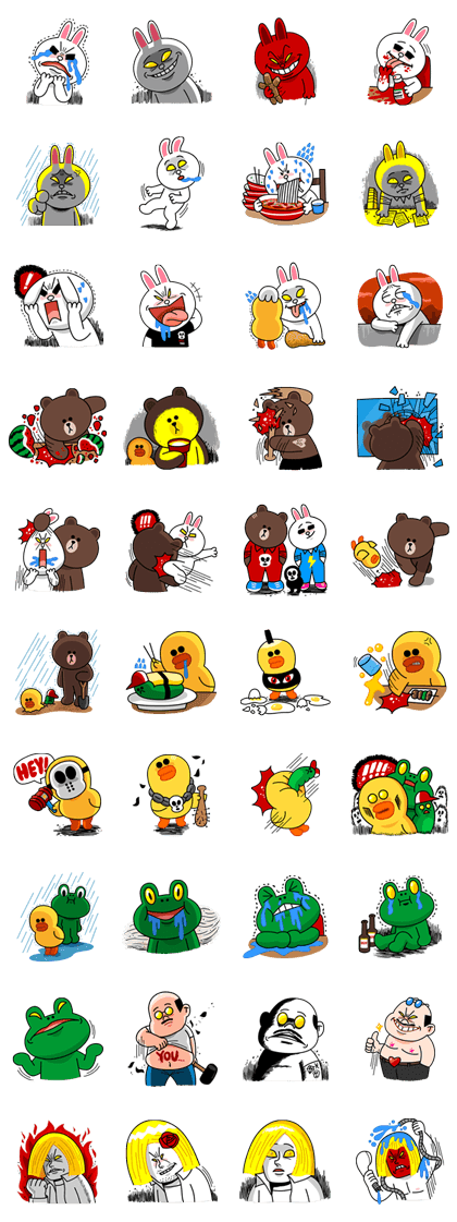 Hoppin' Mad! Angry LINE Characters