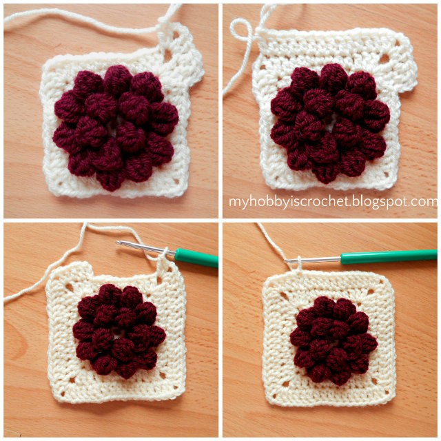 My Hobby Is Crochet: Dahlia in a square - Granny Square - Free ...