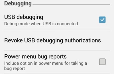 usb debugging android kitkat