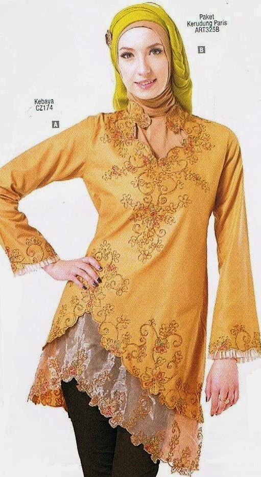 Model Blus Muslim Terbaru Untuk Baju Gamis Vintage