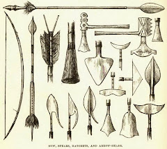 Armas de guerra e caça Lunda Tchokwe